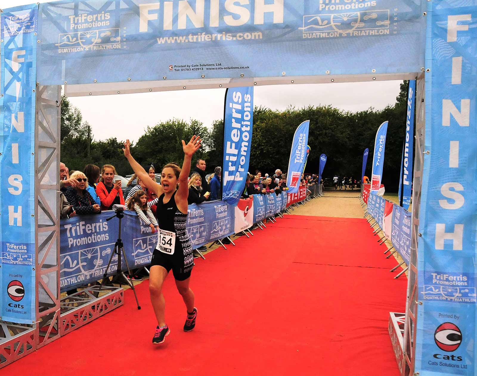 Triathlon Event finish line joy!